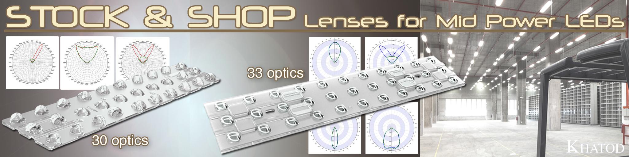 Sistemas ópticos Stock and Shop para LED de potencia media