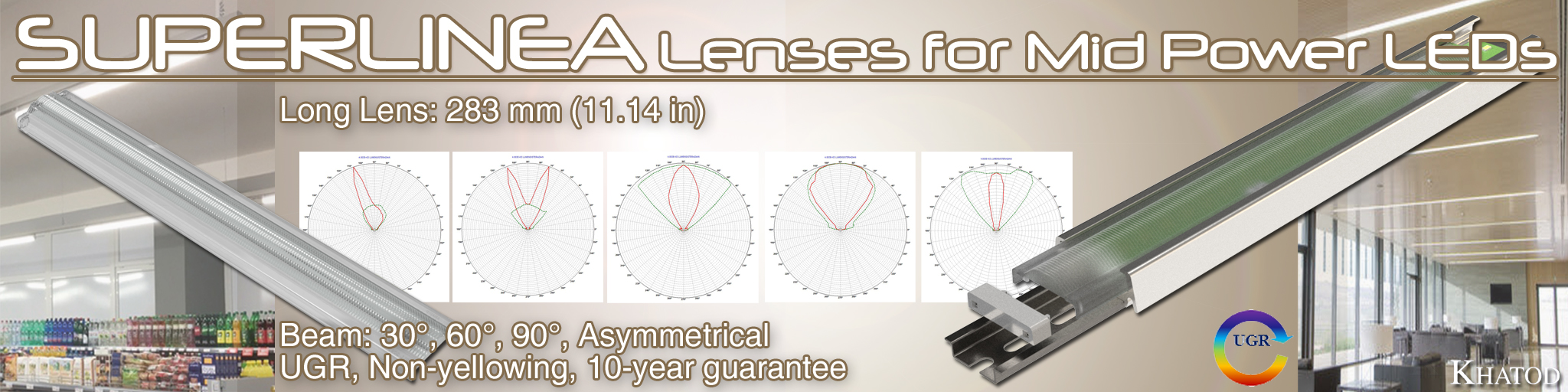 SUPERLINEA Lenses für Mid Power LEDs