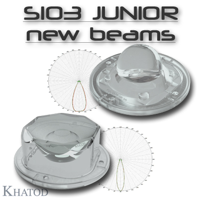 New Lenses for SIO3 JUNIOR Silicone Lenses: 45° FWMH and 25° FWHM