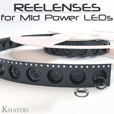 REELENSES for Mid Power LEDs - Lens dimensions: 11.95mm diameter | 4.87mm / 5.95mm height
