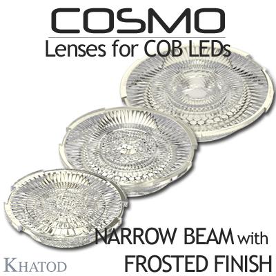 Lentes COSMO para LED COB - Versión NARROW BEAM disponible con ACABADO FROSTED