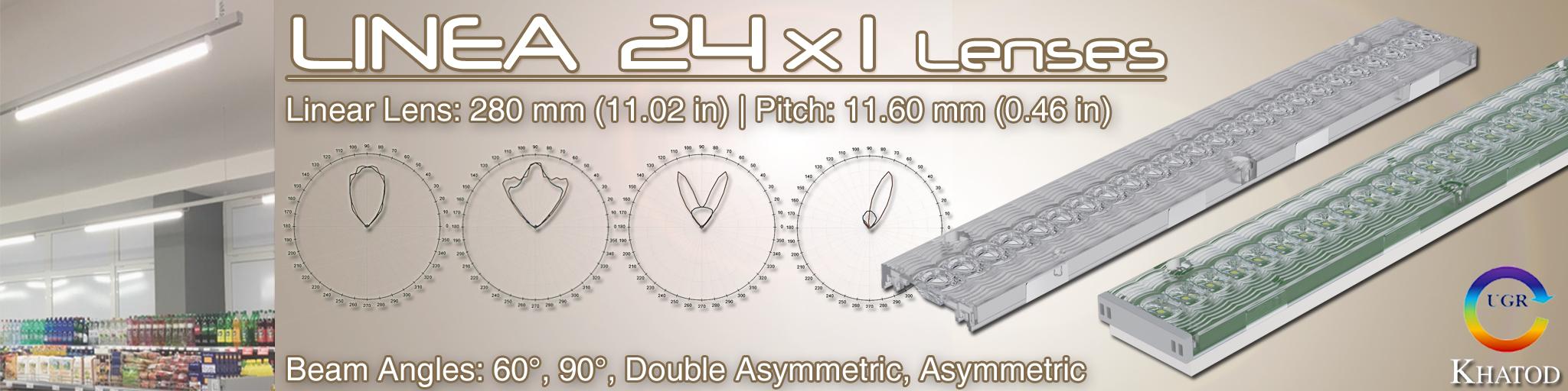 Lenti LINEA 24x1 per LEDs Mid Power