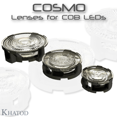 Optical Reflectors and Lenses for COB LEDs: COSMO - Low Profile Lenses for COB LEDs