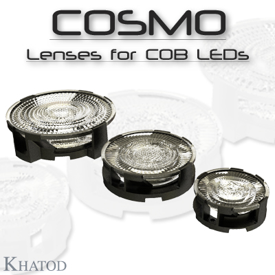 COSMO LOW PROFILE LENSES FOR COB LEDs
