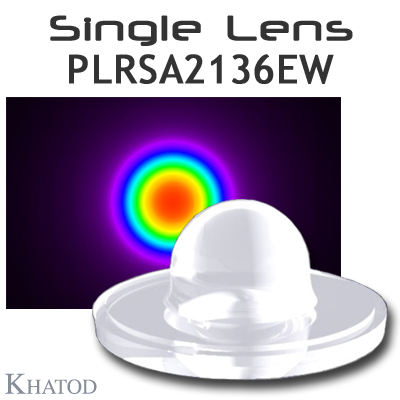 PLRSA2136EW - New Single Lens for Power LEDs with Self Adhesive Tape - 60° FWHM