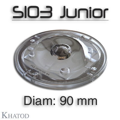 SIO3 JUNIOR SILICONE LENSES for COB LEDs | NEW Lenses made of Silicone, diameter 90mm.