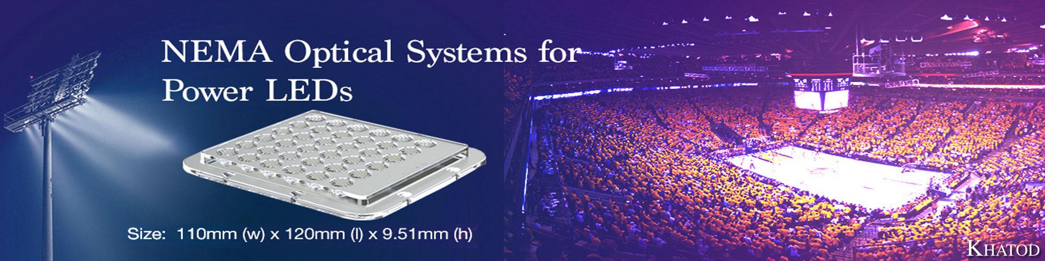 Systèmes optiques Nema pour LED électriques