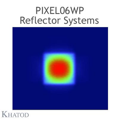 PIXEL06WP Reflektorsysteme ohne Stifte - 60° Halbwertsbreite quadratisch - 27.96 mm x 167.64 mm Seite - 21.73mm Höhe - Ultrabreiter Abstrahlwinkel