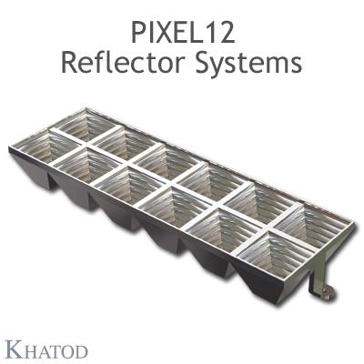 PIXEL12 Reflektorsysteme mit Stiften - 60° Halbwertsbreite quadratisch - 55.90mm x 167.64 mm Seite - 21.73mm Höhe - Ultrabreiter Abstrahlwinkel