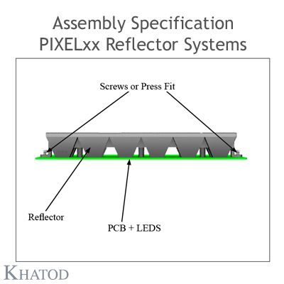 Assembly specification PIXEL with pegs