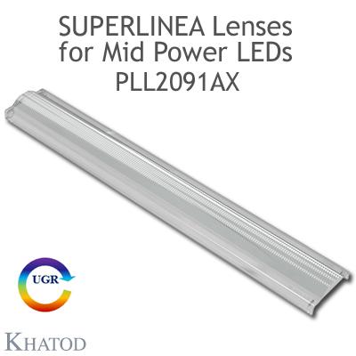 PLL2091AX SuperLinea Lenses - Asymmetric Beam - ±20° FWHM @ Max Candela ±20°
