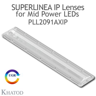 PLL2091AXIP SuperLinea Lenses - Asymmetric Beam - ±20° FWHM @ Max Candela ±20°