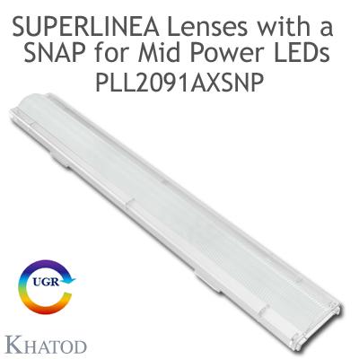 PLL2091AXSNP SuperLinea Lenses with a SNAP - Asymmetric Beam - ±20° FWHM @ Max Candela ±20°