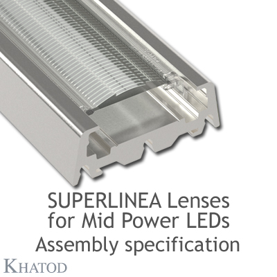 Montage-Spezifikationen SuperLinea Lenses fuer Mid Power LEDs