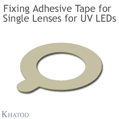 Single Lenses with Self-Adhesive Tape for UV LEDs with Black Holder - Wide Beam