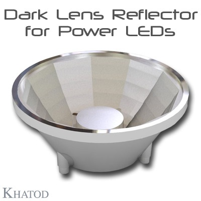 Dark Lens Reflector for Power LEDs - Medium Beam
