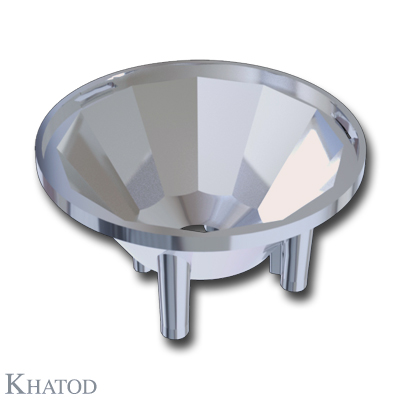 Round Reflector for Power LEDs; Wide Beam