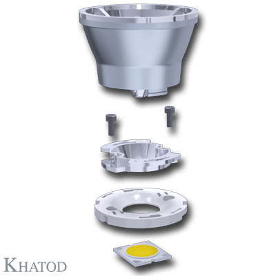 Reflectors for COB LEDs - 49,90mm diameter - from 36,81mm to 38,81mm height