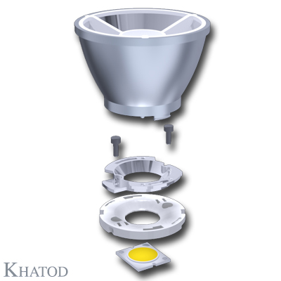 Reflectors for COB LEDs - 72,00mm diameter - from 51,70mm to 56,20mm height