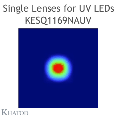 Single Lenses with Self-Adhesive Tape for UV LEDs with Black Holder - Narrow Beam