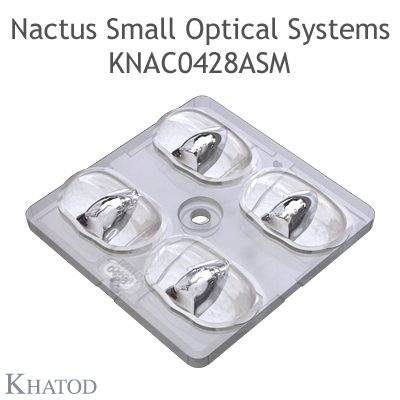 Nactus SMALL Optical System with 4 Lenses - Module dimensions: 50,00mm x 50,00mm - Lens pitch: 25,40 mm - IESNA TYPE II MEDIUM CUT OFF