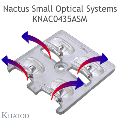 Nactus SMALL Optical System with 4 Lenses - Module dimensions: 50,00mm x 50,00mm - Lens pitch: 25,40 mm - Type II Medium - ME3