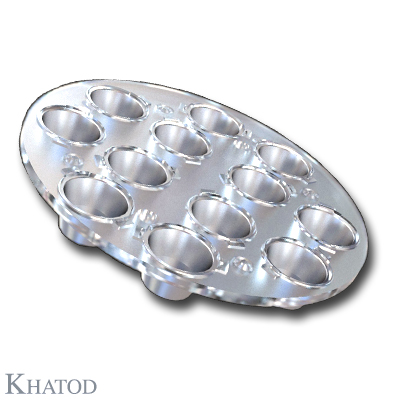 Multi (12) Reflector for Power LEDs with Holder - 101,60mm diameter - 11,40mm height - MODULARIS