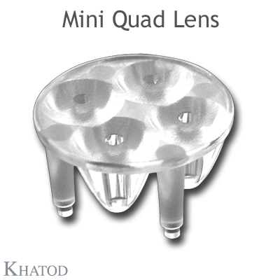 Mini Quad Lenses for Power LEDs - 25,40mm diameter - 11,50mm height