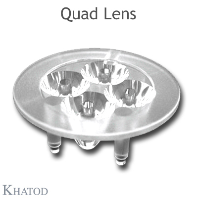 Quad Lenses MR11 Standard for Power LEDs - 35,00mm diameter - 11,50mm height