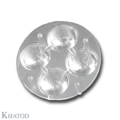 Quad Lenses for Power LEDs; Medium Beam