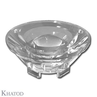 Ultra Clear Silicone Lenses for Power, Multichip and COB LEDs - 50,00mm diameter - 21,05mm height
