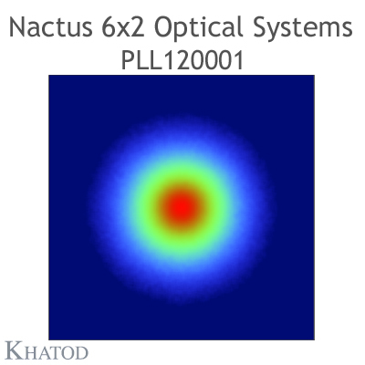 Nactus 6x2 Optical System with 12 Lenses - Module dimensions: 173,00mm x 71,40mm side - Lens pitch: 25,40 mm - 60° FWHM