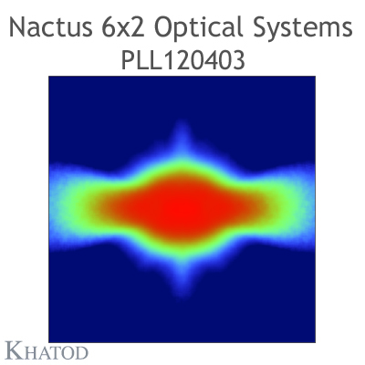 Nactus 6x2 Optical System with 12 Lenses - Module dimensions: 173,00mm x 71,40mm side - Lens pitch: 25,40 mm - Type I
