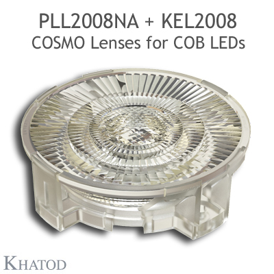 Low Profile Lenses for COB LEDs - 89.87mm diameter, 18.08mm height - 18° FWHM Narrow Beam