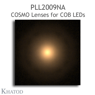 Low Profile Lenses for COB LEDs - 69.86mm diameter, 14.43mm height - 15° FWHM Narrow Beam