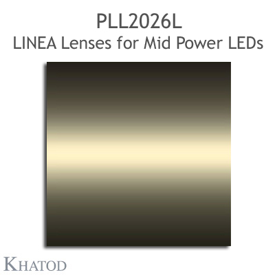 Lenses for Mid Power LEDs - Module dimensions: 285.90mm x 45.00mm side, 10.71mm height - Asymmetrical Beam