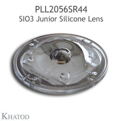 Silicone Lens for COB LEDs - 85.09mm diameter - 15.30mm height - IESNA Type V
