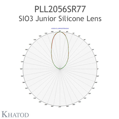 Silicone Lens for COB LEDs - 85.09mm diameter - 24.00mm height - 60° FWHM
