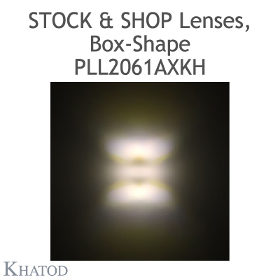 "Optical panels for Mid Power LEDs - 285.60mm x 61mm side, 12.50mm height - 90° FWHM Double Asymmetric - ""STOCK and SHOP Lenses"""