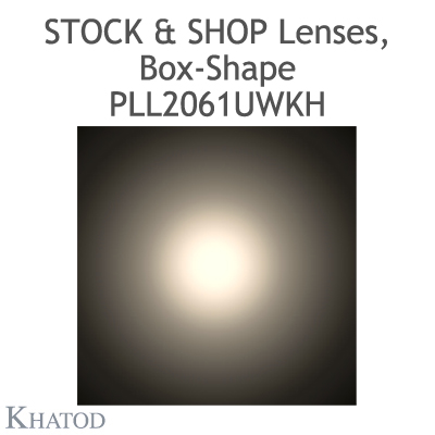 "Optical panels for Mid Power LEDs - 285.60mm x 61mm side, 10.10mm height - 90° FWHM - ""STOCK and SHOP Lenses"""
