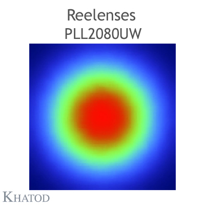 Reelenses for Mid Power LEDs - 11.95mm diameter, 4.78mm height - 90° FWHM Ultra Wide Beam