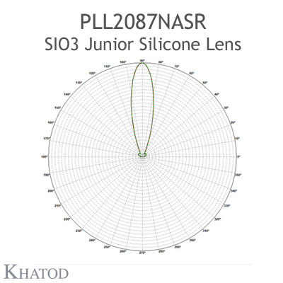 Silicone Lens for COB LEDs - 85.09mm diameter - 33.80mm height - 25° FWHM