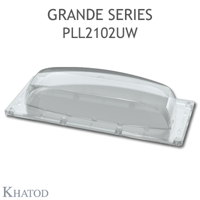 Optics for COB LEDs and Power LED Arrays - 172.98mm x 71.38mm side - 36.07mm height - Wall Light