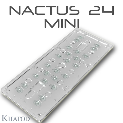 NACTUS 24 MINI Optical Systems with 24 Lenses - 173.00mm x 71.40mm side - 7.80mm height