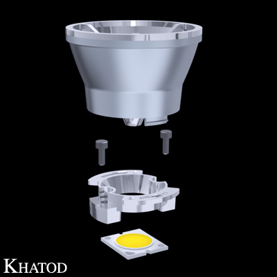 Reflectors for COB LEDs - 49,90mm diameter - from 41,31mm to 43,31mm height
