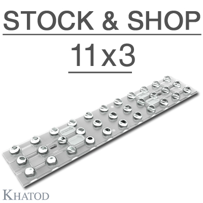 Stock and Shop Lenses (33 optics) for Mid Power LEDs - 286mm x 60mm side - from 7.17mm to 12.07mm height