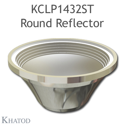 Round Reflector for COB LEDs; Wide Beam