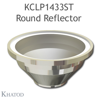 Round Reflector for COB LEDs; Extra Wide Beam