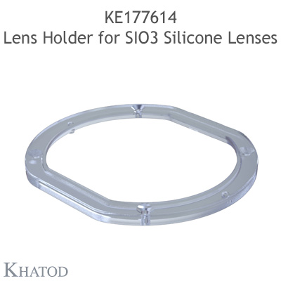 Ultra Clear Silicone Lenses for COB LEDs; 100,00mm x 111,00mm side, 33,80mm height; Type Vs - 120° Square