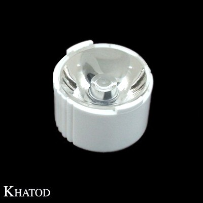 Single Lenses for Power LEDs with White Holder; Narrow Beam